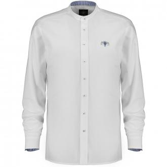 Trachtenhemd mit Stehkragen, langarm weiß_00 | 3XL