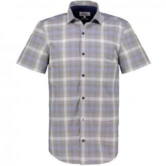 Kariertes Freizeithemd, kurzarm blau/grau_99N4/4030   3XL