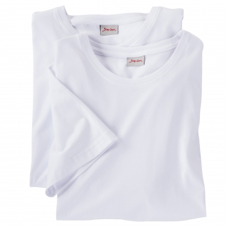 T-Shirt Doppelpack mit Rundhals-Ausschnitt weiß_100   4XL