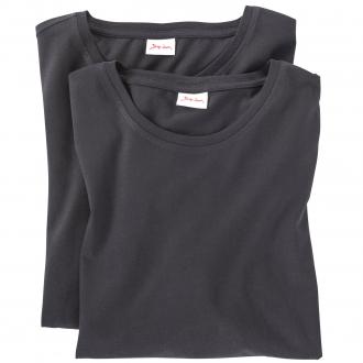 T-Shirt Doppelpack mit Rundhals-Ausschnitt schwarz_999 | 3XL