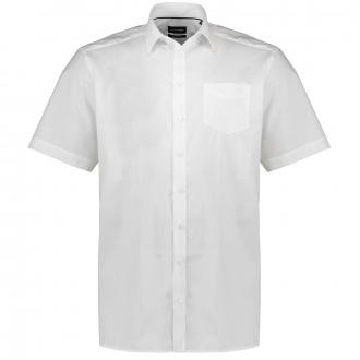 Feinstrukturiertes Businesshemd, kurzarm weiß_900 | 46