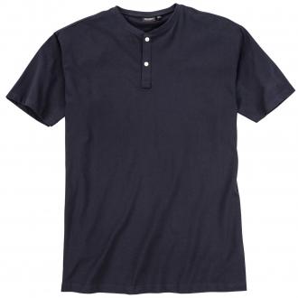 Vielseitig kombinierbares T-Shirt mit Serafinokragen dunkelblau_01 | 10XL