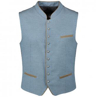 Festliche Trachten-Weste mit modernem Muster blau_49   62