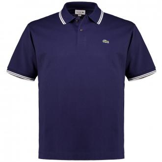 Premium Poloshirt mit Zierstreifen, kurzarm dunkelblau_525   3XL