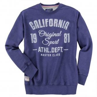 "Sportliches Sweatshirt mit großem ""California Original Sport 1981""-Print jeansblau_189   4XL"