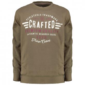 """Sweatshirt mit stylischem """"Crafted Premium Quality""""-Print grün_811   3XL"""