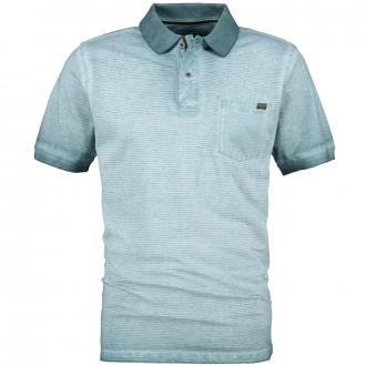 Poloshirt im Vintage-Look, kurzarm grün_881   6XL