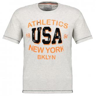 "T-Shirt mit auffälligem ""Athletics USA New York""-Print hellgrau_876 | 3XL"