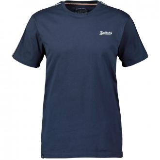 Baumwoll-T-Shirt mit betonter Schulterpartie, kurzarm dunkelblau_547/400   3XL