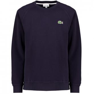 Sweatshirt aus Baumwoll-Piqué mit dem berühmten Krokodil auf der Brust dunkelblau_HDE | 3XL