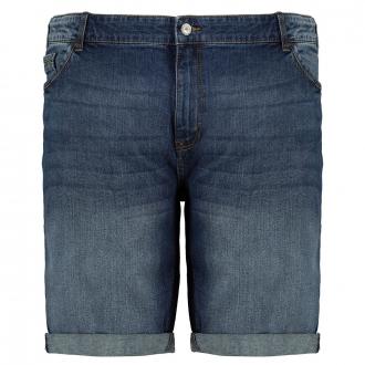 5-Pocket Jeansshort mit Stretch dunkelblau_4482 | W44