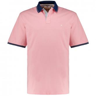 Stretch-Poloshirt mit Zierstreifen, kurzarm altrosa_391 | 3XL