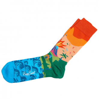 "Socke ""Tropical Island"" blau/grün_3300 | 41-46"