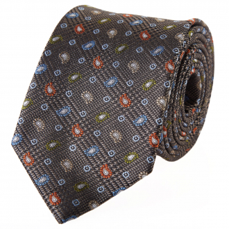 Krawatte in Karo-Mustermix blau/grau_1/4030   One Size