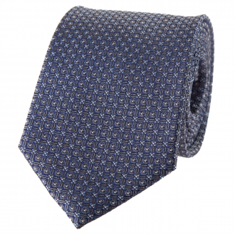 Krawatte mit edlem Minimalmuster blau/grau_2/4030   One Size