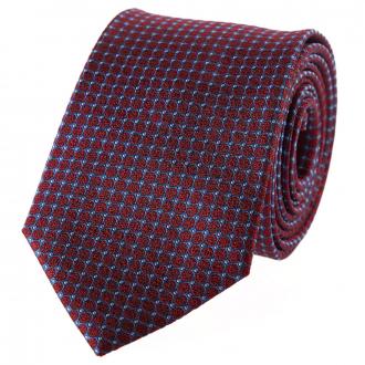 Gepunktete Krawatte blau/rot_1/4050 | One Size