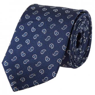 Krawatte mit Paisleymuster blau_1   One Size