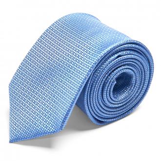 Seidenkrawatte mit Punkten blau_5/40   One Size