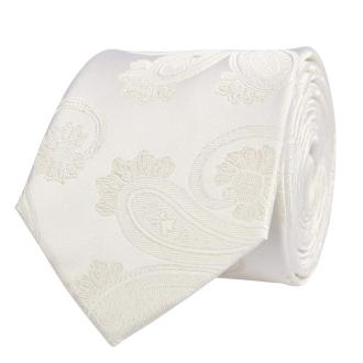 Krawatte aus Seide mit Paisley-Struktur, extralang creme_4/25 | One Size