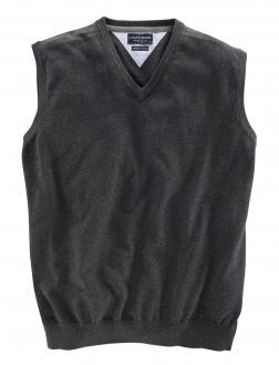 Pullunder aus Baumwolle dunkelgrau_74 | 3XL