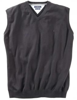 Pullunder aus Baumwolle schwarz_80 | 3XL