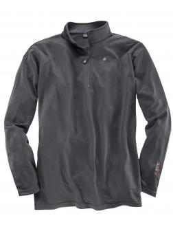 Funktionsshirt mit Zipper schwarz_900 | 3XL