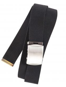 Bandgürtel mit Koppelschließe schwarz_190   110