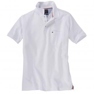 Klassisches Piqué Poloshirt weiß_00 | 3XL