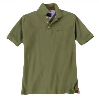 Klassisches Piqué Poloshirt moosgrün_303 | 3XL