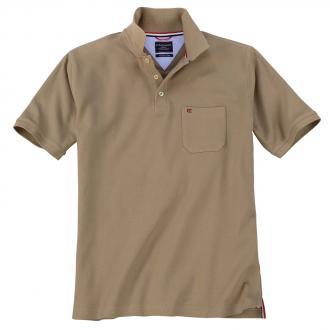Klassisches Piqué Poloshirt sand_613 | 3XL