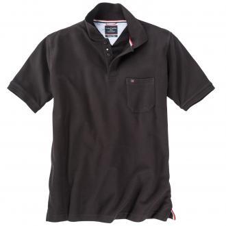 Klassisches Piqué Poloshirt schwarz_80 | 3XL