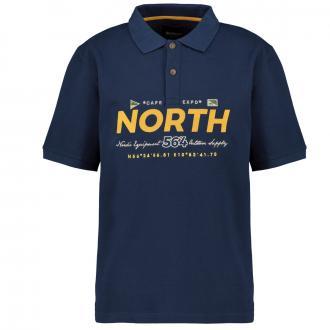 "Poloshirt mit ""North""-Beflockung dunkelblau_580 | 3XL"