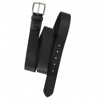 Ledergürtel mit Stretcheinsatz schwarz/schwarz_02 | 125