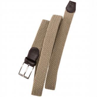 Stretch-Gürtel mit Flechtmuster sand_024 | 110