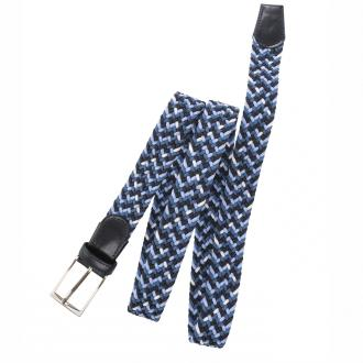 Stretch-Gürtel mit Flechtmuster blau/dunkelblau_900 | 110