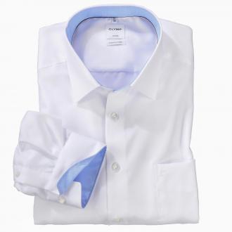 Elegantes City-Hemd mit Kontrasteinsätzen, langarm weiß_00 | 46