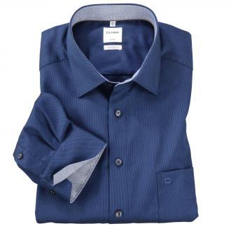 Elegantes City-Hemd mit Kontrasteinsätzen, langarm blau_18 | 46