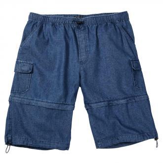Jeans-Bermuda mit abnehmbarem Bein und Gummizug jeansblau_262   3XL