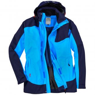 Funktionelle Outdoorjacke blau/türkis_283 | 3XL
