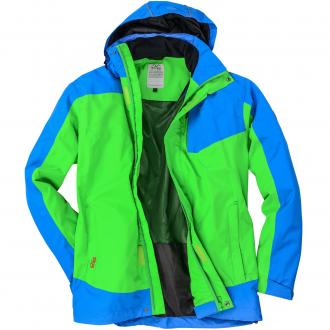 Funktionelle Outdoorjacke blau/grün_3600 | 3XL