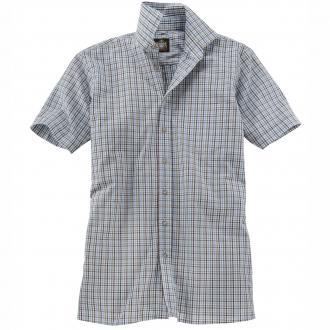 Kariertes Trachtenhemd kurzarm blau/grün_GRÜN/BLAU   6XL