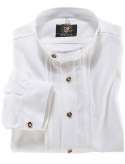 Trachtenhemd mit Stehkragen weiß_01 | 3XL