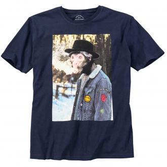"T-Shirt mit originellem ""Affen""-Print, kurzarm marine_TOTALECLIPSE | 3XL"