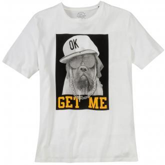 "T-Shirt mit ""Dog""-Print weiß_CLOUDDANCER | 3XL"