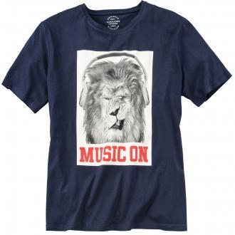 "T-Shirt mit ""Löwe""-Print marine_TOTALECLIPSE | 3XL"