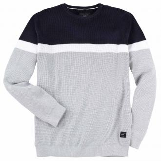 Modischer Pullover in markanter Colour-Blocking-Optik hellgrau_LIGHTGREY | 3XL