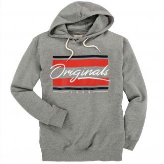 "Trendstarkes Kapuzensweatshirt mit gummiertem ""Originals""-Print hellgrau_LIGHTGREY | 3XL"