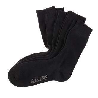 5-er Pack Socken mit Elasthan; Größe 43-46 schwarz_BLACK | One Size