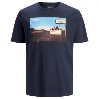 "T-Shirt mit ""Motel""-Print blau_NAVYBLAZER | 3XL"