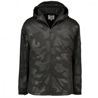 Moderne Outdoorjacke mit Kapuze schwarz_BLACK | 3XL